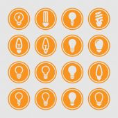 Lamp icons — Stock Vector