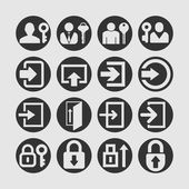 Login icons — Stock Vector