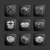 Pole ikony — Wektor stockowy