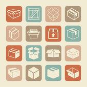 Vak pictogrammen — Stockvector