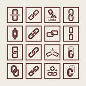 Link icons — Vector de stock