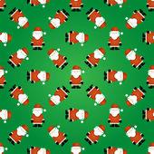 Santa Dikişsiz Noel desen — Stok Vektör