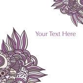 Mão desenhada floral abstrato — Vetor de Stock