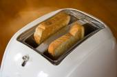 Toaster with two hot toasts. — Stock Photo