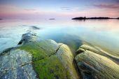Late evening seascape — Stock Photo