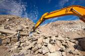 Construction demolition waste site — Stockfoto