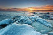 Ice covered rocks — Stock Photo