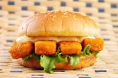 Fish stick burger — Stock Photo