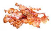 Fried bacon rashers — Stock Photo