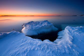 Icy sunrise in Helsnki — Stock Photo