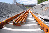 Railway construction site — Stock Photo