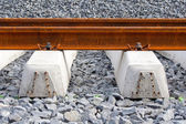 Railroad rails and ties — Stock Photo