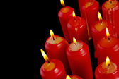 Group of red candles — Stock Photo