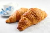 Baked croissants breakfast — Stock Photo