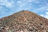 Sand heap in quarry plant — Stock Photo