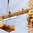 Tower crane in the construction site — Stock Photo #72619221