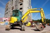 Digger at construction site — Stock Photo