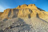 Sand quarry in evening light — Stock Photo
