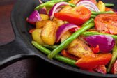 Mix of fried vegetables — Stock Photo