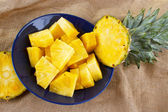 Cut fresh pineapple — Stock Photo