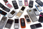 Different cell phones — Stock Photo