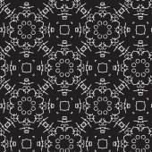 Seamless black and white pattern with abstract figures — Stock Vector