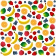 Pattern with fruits on white background. Vector and Illustration design for restaurant menus, template for cooking, healthy foods, healthy diet and website. — Stock Vector #58581787