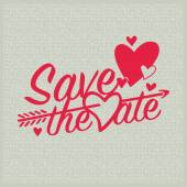 Save the date. Wedding invitation. Vector and illustration design. — Stock Vector