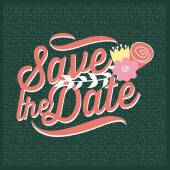 Save the date invitation with texture. Vector and illustration design — Stock Vector