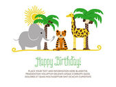 Childrens birthday card. — Stock Vector
