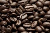 Roasted coffee beans closeup image — Stock Photo