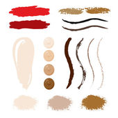 Make Up smear and stroke elements. — Stock Vector