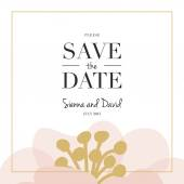 Save the Date wedding card. — Stock Vector