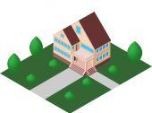 Cozy house vector — Stock Vector