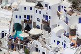 The hotel in Santorini, Greece — Stock Photo