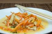 Soy asparagus and carrots — Stockfoto