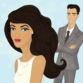 Wedding — Stock Vector