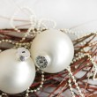 White Christmas spheres — Stock Photo #56859553