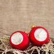 Red Christmas spheres — Stock Photo #56859645