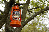 Orange oil lamp — Stock Photo