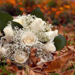 Wedding bouquet from white roses — Stock Photo #58746915