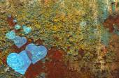 Heart on an impressive rusty color background — Stock Photo