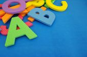 Bright different color of a letter of the alphabet — Foto Stock