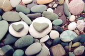 Sea color stones in the form of heart — Stock Photo