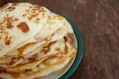 Pile of the house prepared pancakes — ストック写真