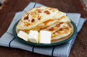 Pile of the house prepared pancakes — Stockfoto