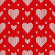 Bright Valentines Day knitted seamless pattern — Stock Vector #57459525