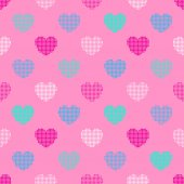 Pattern in halftone hearts — Stock Vector