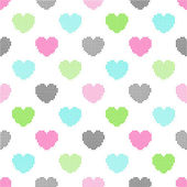 Pattern of halftone hearts — Stock Vector