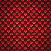 Seamless background perforated plastic sheet in heart — Stockvector